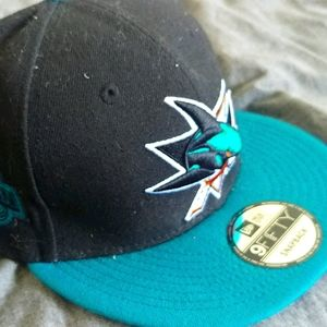 9fifty San Jose Sharks Black Teal New Era 9Fifty S